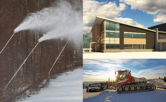 snow guns, two-story Base Lodge addition and new snowmaker