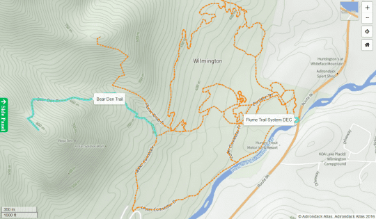 Bear Den Trail map