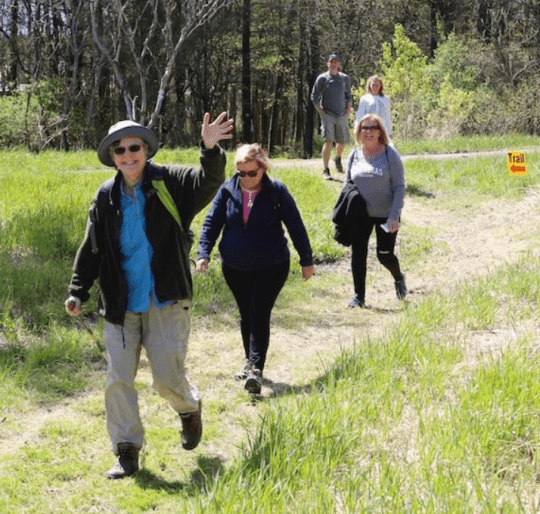 Katherine Preston leads the way on the Vialls Crossing Trail