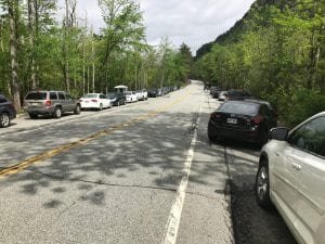 Parking Along Rte 73 Near Roaring Brook Falls