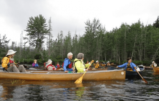 Weller Pond canoe in