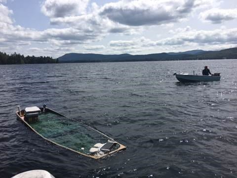 small capsizing on Sacandaga Lake