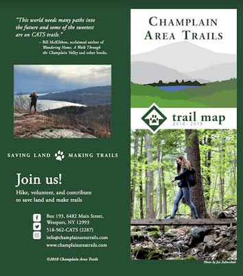 Champlain Area Trails 2018 2019 Trail Map