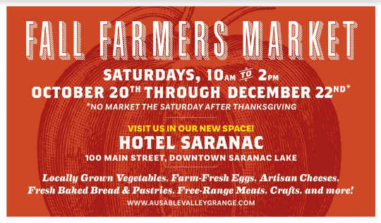 saranac lake fall farmers market