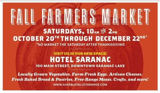 saranac lake fall farmers market