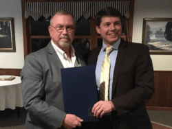 Assemblyman Billy Jones thanks Rick LeVitre for his service to New York's 115th District