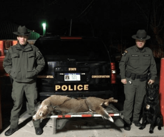 ECOs Nicols Lacroix and K9 Diesel with illegally taken button buck