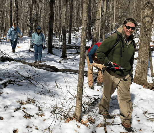 Volunteers on Vialls Crossing trails