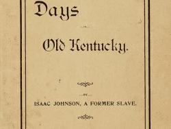 slavery days in old kentucky