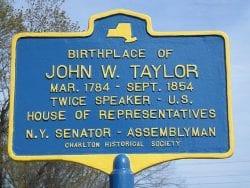 John W. Taylor Marker in Charlton, NY