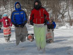 kids sack races