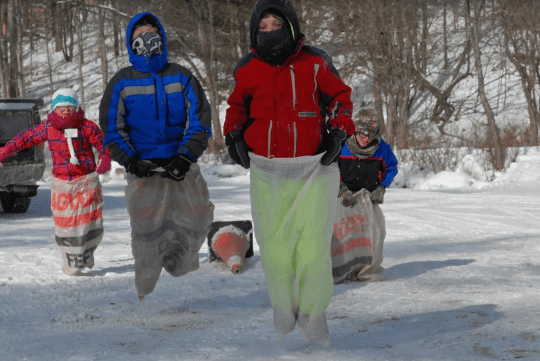 kids sack races