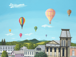 Balloons Over Cambridge by Jacob Houston