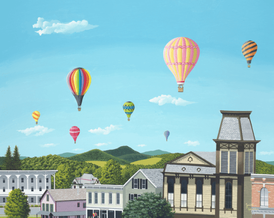 Balloons Over Cambridge by Jacob Houston