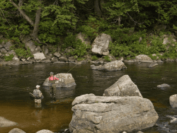 Two Fly Challenge participants on the Ausable River