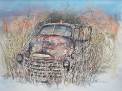 chevy pickup truck painting