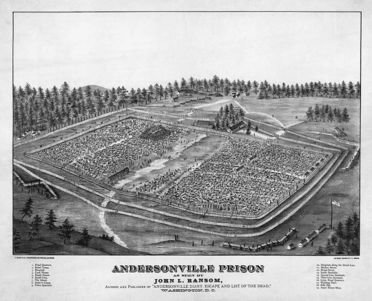 depiction of Andersonville Prison by John L Ransom