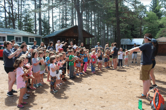 First time campers enjoy Cloverbud camp