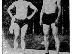 Al Marlow with his trainer Joe Malcewicz courtesy Ogdensburg journal