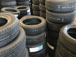 Assorted new automotive road tires