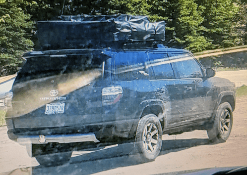 Toyota 4-Runner that damaged cross country ski trails