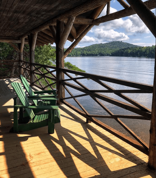 eagle island Boat House Porch