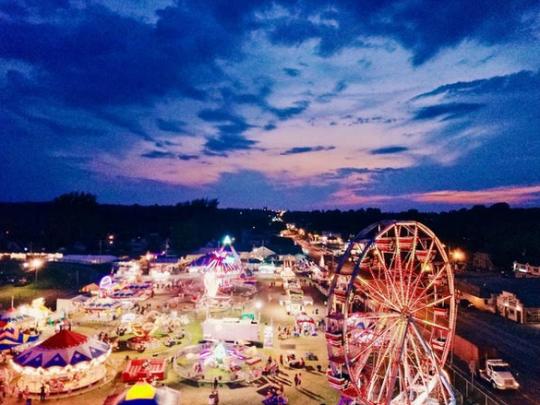 Franklin County Fair at night