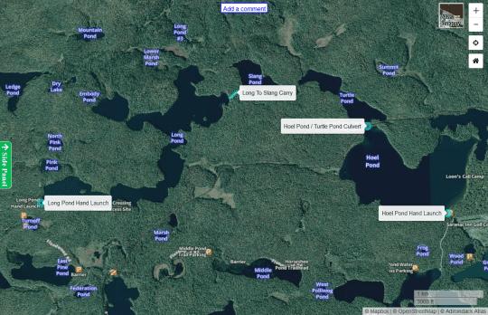 St Regis Canoe Area map