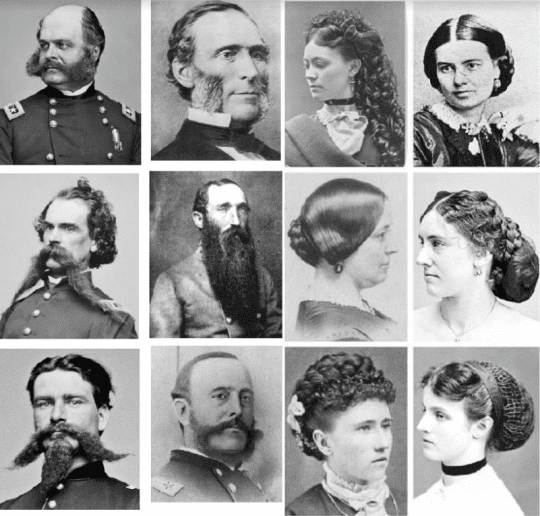 Civil War Beard Hair Styles