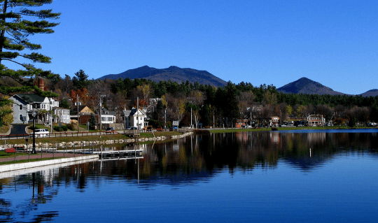 Lake Flower in Saranac Lake courtesy wikimedia user Mwanner