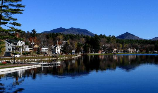 Lake Flower in Saranac Lake courtesy wikimedia user Mwanner
