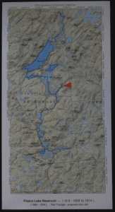 Map of the Piseco Lake Arietta Reservoir