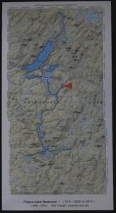 Map of the Piseco Lake Arietta Reservoir