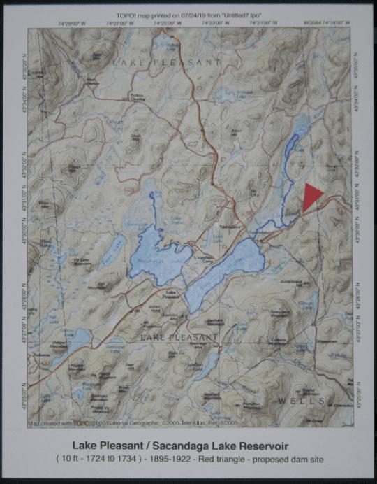 The proposed Lake Pleasant Lake Scandal Reservoir