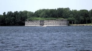 Fort Montgomery at Rouses Point NY on Lake Champlain