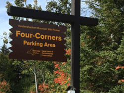 four corners parking area sign provided by peter bauer