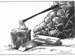 wood pile by adelaide tyrol