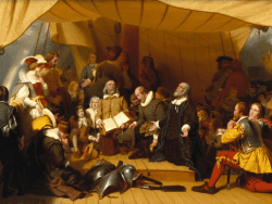 Embarkation of the Pilgrims by Robert Walter Weir