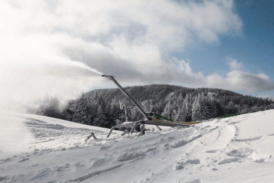 Snowmaking on Bear Mountain Summit courtesy Gore Mountain