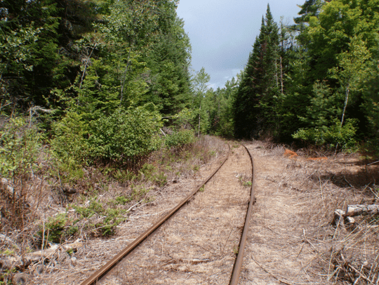 section of the Tahawus Railroad north of Route 28N in Minerva provided by Protect the Adirondacks