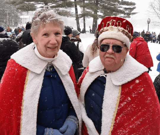 2019 Saranac Lake Winter Carnival King Philip Griffin and Queen Roseann Hickey