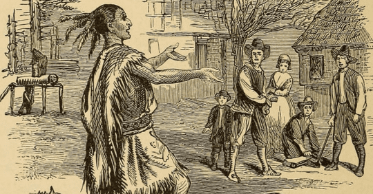 Depiction of the Thanksgiving story