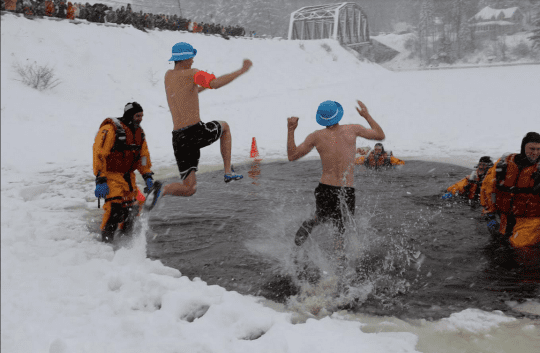 Long Lake Polar Plunge provided Long Lake Parks and Recreation