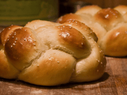 braided challah made by Ellen Rocco