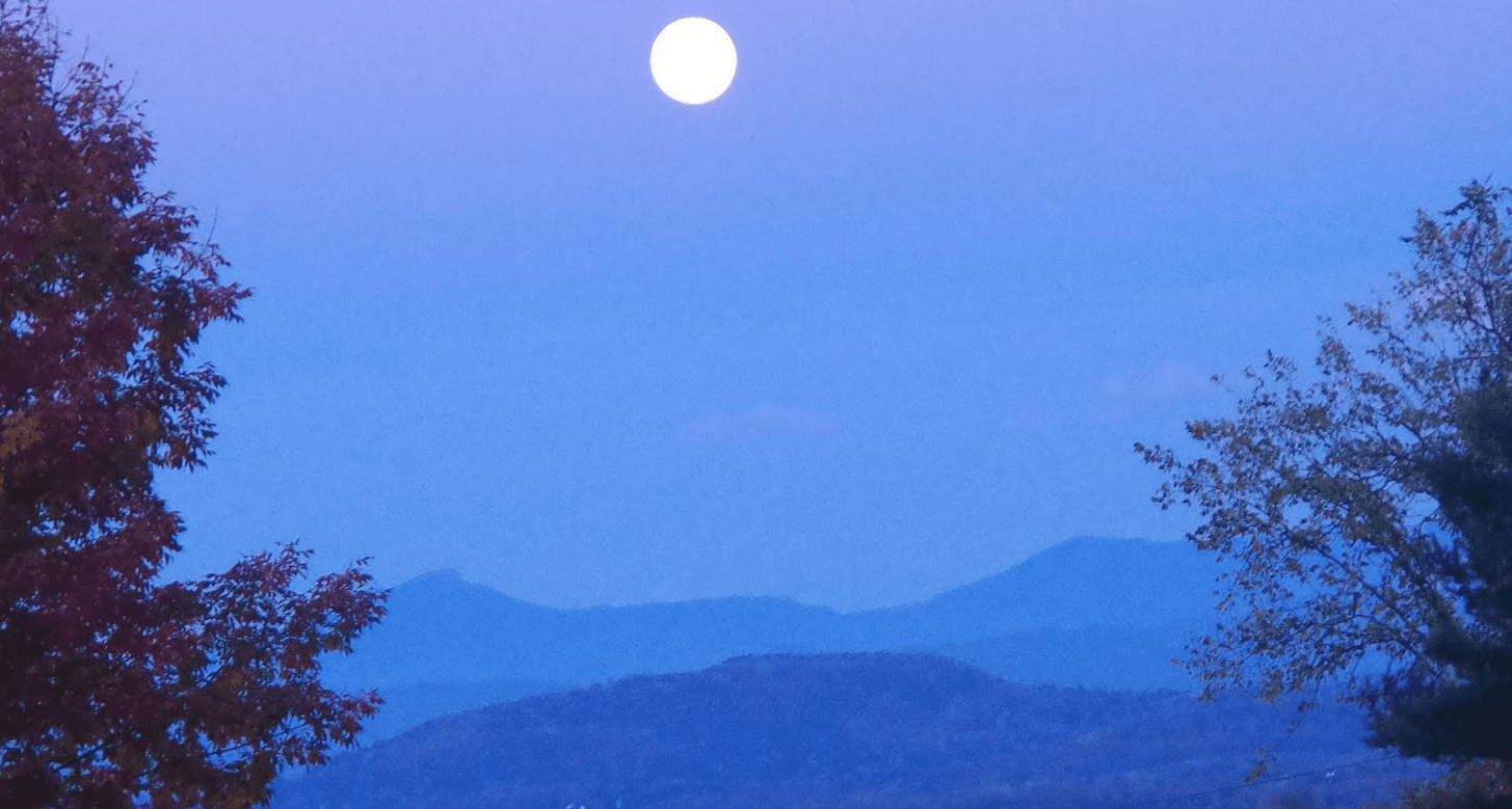 full moon provided by champlain area trails
