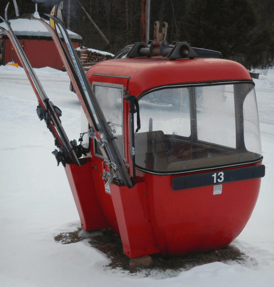 old gondola cart at Becks