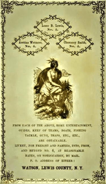 1864 Guiding Ad in Stephens Historical Notes
