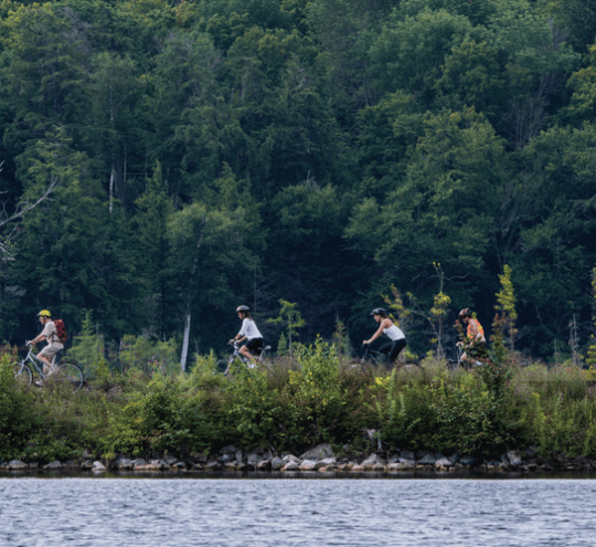 Adirondack Recreational Trail Advocates riding an area near Lake Colby in 2013
