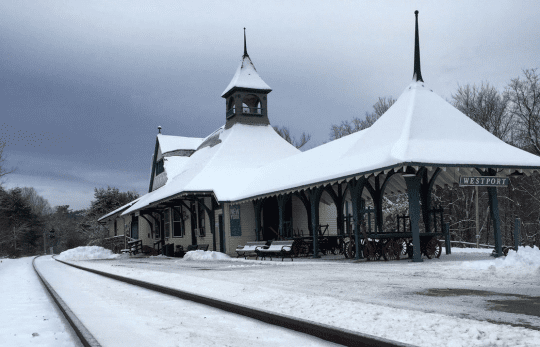 Depot Theatre in winter