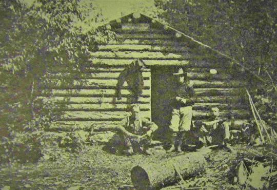 Hiram Burke Shanty at Twitchell Lake